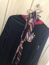 Harry Potter Gryffindor Costume Cape Tie Glasses Age 11-12