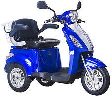 Elektromobil, E-Mobil, Seniorenfahrzeug, E-Dreirad, 25 Km/h, Blau