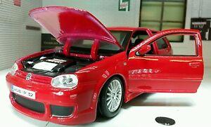 1:24 VW Golf R32 Gti Mark 4 Mk4 IV V6 31290 Rouge Maisto Détaillé Maquette R-32