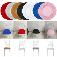 Square Round Elastic Stretch Chair Seat Cover fit Home Wedding Dining Room Chair