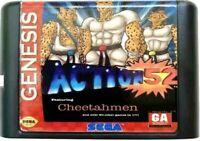 Action 52 (1991) 16 Bit Game Card Cartridge For Sega Genesis Mega Drive System