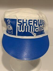 2 Vintage 1980's Sherwin Williams Paint Painters Hat Cap