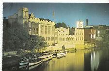 Yorkshire Postcard - Floodlighting Along The River Ouse - York     ZZ2514