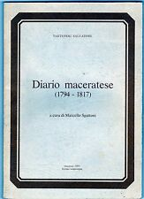diario maceratese epoca napoleonica