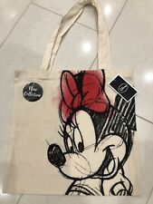 *DISNEY* MINNIE MOUSE BNWT canvas TOTE bag SKETCH drawn OFFICIAL 100% cotton NEW