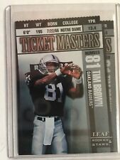 1998 R & S Ticket Masters D/C Card Tim Brown/Napoleon Kaufman #241/2500 RAIDERS
