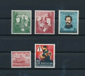 D193907 Germany 1952 Nice selection of MH stamps