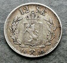Norvège 12 Skilling 1853 Argent 2,86gr #M819