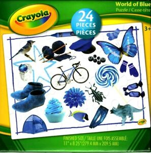 Crayola 24 Piece Puzzles World of Blue, Green, Red or Yellow CHOICE of 4 NEW!