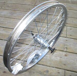 Wheel 20 X 1.75 Coaster Brake Rear Chromed Steel W/Brake Band 18T Bolt On NEW