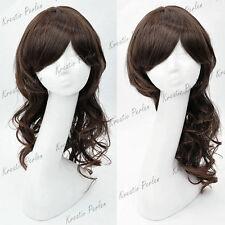 Dunkelbraune Perücken & Echthaar-Haarverlängerungen Zubehör-,, Haarteile