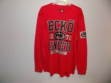 Ecko Unltd Thermal Shirt Long Sleeve Crew Neck Logo Mens Size L True Red NWT
