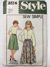 Style 2614 Vintage Flared Gathered Wrap Skirt Pattern Waist 24.5-25.5 Hips 30-32