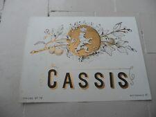 étiquette ancienne CASSIS