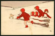 Artist Signed PAULI EBNER 06 MAIALINI  LITTLE PIGS Postcard 1912