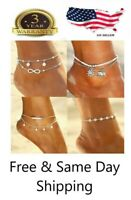Gold Silver Barefoot Sandal Beach Anklet Foot Chain Jewelry Ankle Bracelet