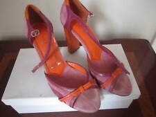 Women Shoes Charles By Charles David Suede/leather Purple/Oange 6.5M High Heels