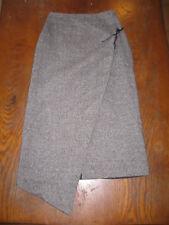 J.Riu - Jupe en  tweed longue avec rabat asymétrique devant - 20% laine - 38