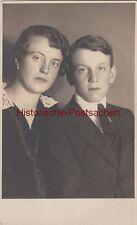 (f4200) ORIG. foto donna con precoce Uomo, fotografo Staab B. Pilsen prima del 1945