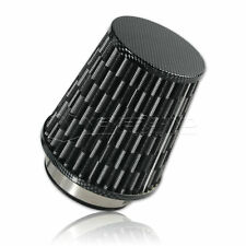 Carbon 3inch Flow Car Trunk Racing Cold Air Intake Filter Tapered Cone Cleaner