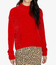 Sanctuary - CHENILLE MOCK NECK RED Sweater - Size XL - NWT