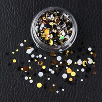 Shiny Mixed Nail Ultrathin Sequins Round Nail Art Glitters 3D Decoration #06