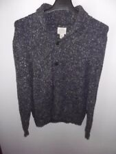 ST JOHNS BAY - MEN - SWEATER - BUTTON COWL NECK - NAVY - SIZE MED   (AC-25-193)