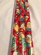 Disney Despicable Me Minion Large 70sq ft Roll Christmas Gift Wrapping Paper New