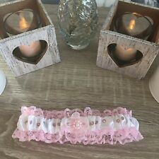 Pink & White Handmade Garter - Wedding/Hen Night/Fancy Dress (7)