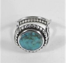 Nugget Ring - Size 5 1/2 Unsigned - Sterling Silver Candelaria Turquoise
