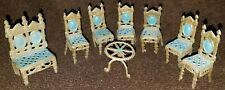 Vintage Set of 8 Metal Doll House Furniture