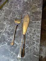 Pair Of Vintage Knife & Fork w&h EPNS w35