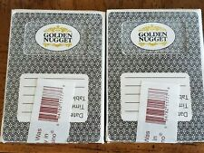 2 Decks Golden Nugget Casino Las Vegas Playing Cards. Used in Casino.
