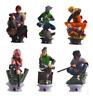 6PCS/Set Anime Naruto Kakashi Gaara PVC Action Figure Collectible Toy gifts 12CM
