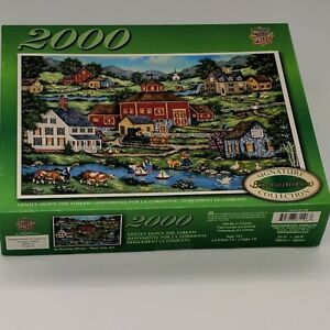 "Master Pieces Bonnie White 2000 Piece Puzzle Signature Collection ""Gently Down.."