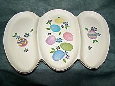 Lenox Easter Holiday Egg Platter 3 Divided Decorative Sections New in Lenox Box