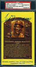 Ted Williams PSA DNA Coa Autograph Hand Signed Gold Hof Plaque