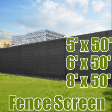Black 5' x 50'/ 6' x 50'/ 8' x 50' Fence Privacy Wind Screen Mesh Shade Cover