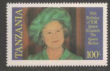 Tanzania #269 VF MNH - 1985 100sh Queen Mother Wearing Green Hat, 85th Birthday