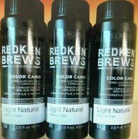 Redken Brews 5 Minute Color Camo LIGHT NATURAL 2oz (3 PACK) - Same Day Shipping!