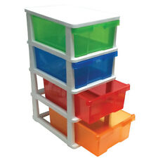 Plastic Storage Shelf and Filing Storage Cabinet Organizer Slide-Out Drawers