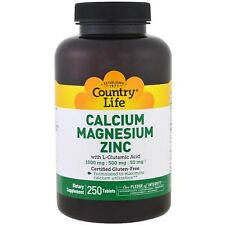 Calcium Magnesium Zinc  (250 Tablets) - Country Life