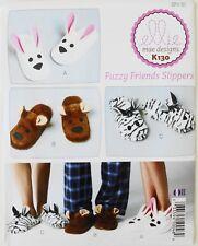 Ellie Mae Designs K130 Adults Fuzzy Friends Slippers Sewing Pattern