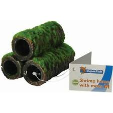 Superfish Shrimp Home Tubes Artificial Moss Pyramid Hide Cave Decor - Medium