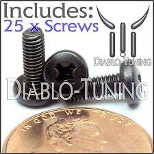 M3 x 8mm - Qty 25 - Phillips Pan Head Machine Screws - DIN 7985 A - Black Steel