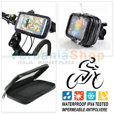 SUPPORTO IMPERMEABILE BICI BICICLETTA MOTO SMARTPHONE SAMSUNG LG NOKIA 11 x 6 cm