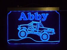 Personalized Monster Truck Acrylic Handmade Led Sign kids lamp-Gift