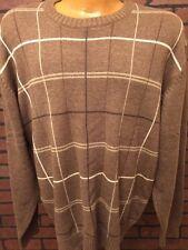 Vintage Oscar De La Renta XL Men's Brown Pull Over Sweater