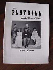 1956 Playbill Major Barbara Morosco Theatre Charles Laughton Burgess Meredith