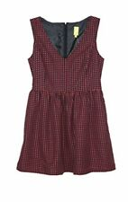 Qmack Womens Fashion Without Sleeve Short Dress Black/Wine Size 10